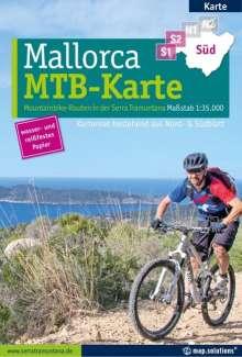 Mountainbikekarte Mallorca (Kartenset mit Nord + Süd-Blatt), Diverse