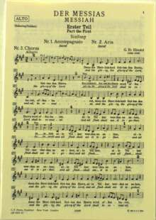 Georg Friedrich Händel (1685-1759): Der Messias HWV 56, Noten
