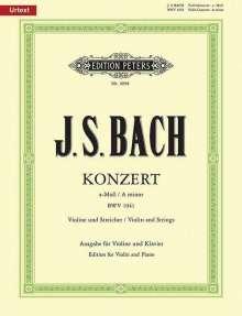 Johann Sebastian Bach (1685-1750): Konzert für Violine, Streicher und Basso continuo a-Moll BWV 1041 / URTEXT, Noten