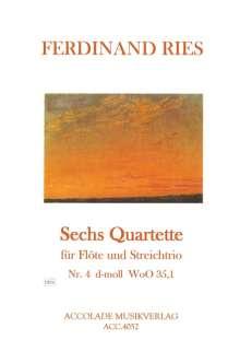 Ferdinand Ries (1784-1838): Quartett d-moll WoO 35,1, Noten