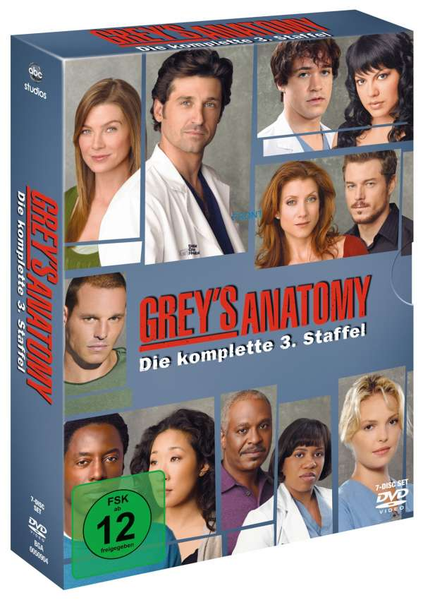 Grey's Anatomy Season 3 (7 DVDs) – jpc
