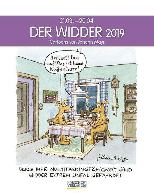 der widder 2019 sternzeichen cartoonkalender diverse jpc. Black Bedroom Furniture Sets. Home Design Ideas