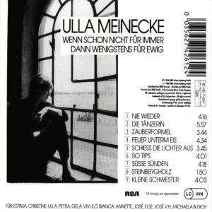 Ulla Meinecke - Wenn Schon Nicht Für Immer Dann Wenigstens Für Ewig