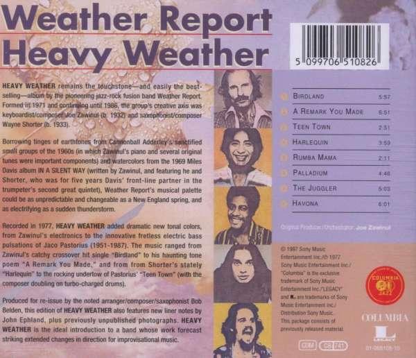 Weather Report Heavy Weather Cd Jpc
