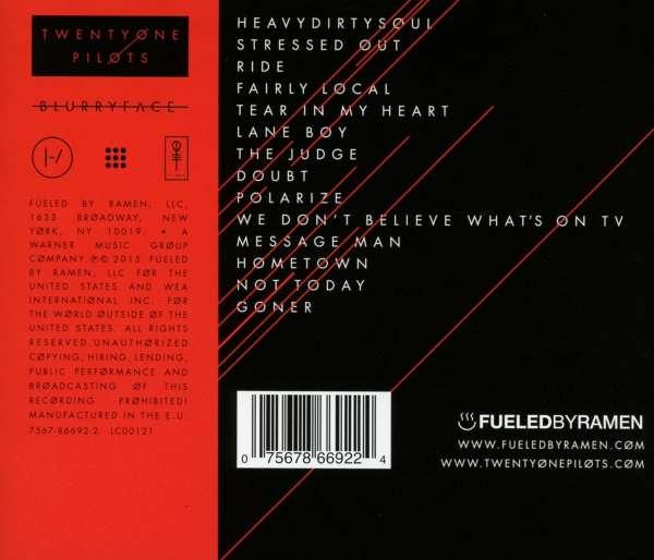 Twenty One Pilots Blurryface Cd Jpc