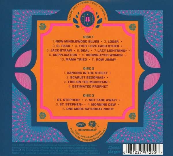 Grateful Dead Cornell 5 8 77 3 Cds Jpc De