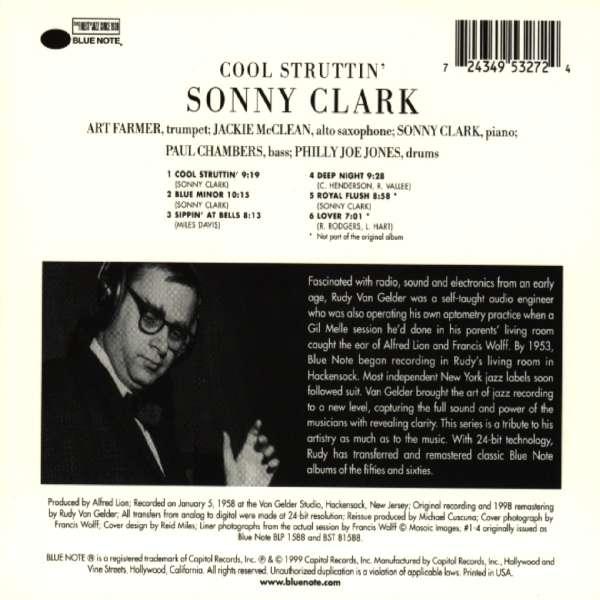Sonny Clark Cool Struttin Rudy Van Gelder Cd Jpc