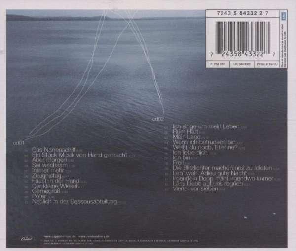 Reinhard Mey: Klaar Kiming (Live), 2 CDs (Rückseite)