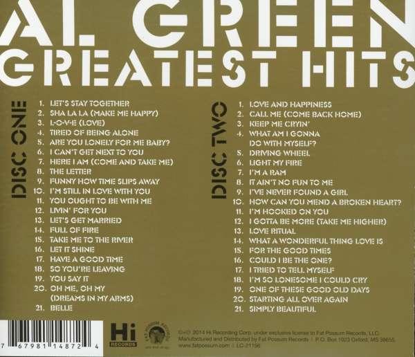 Al Green Greatest Hits The Very Best Of Al Green 2 Cds