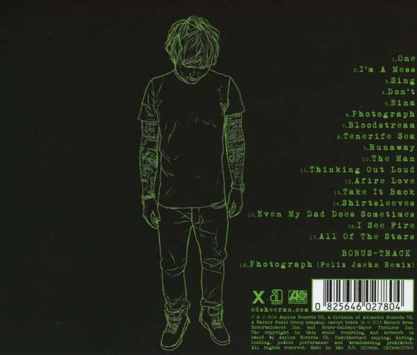 Ed Sheeran X Deluxe Edition Incl Felix Jaehn Remix 18