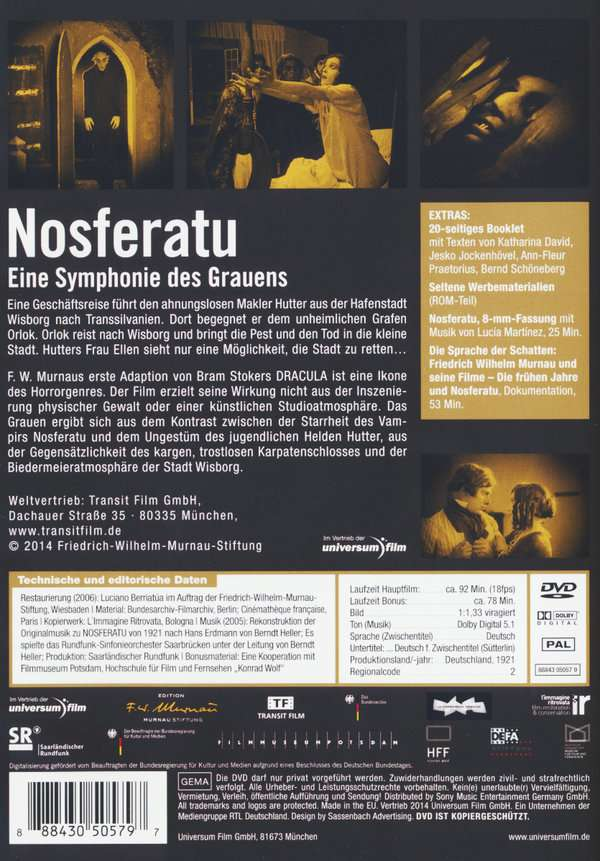 Nosferatu  Eine Symphonie des Grauens (DVD) – jpc