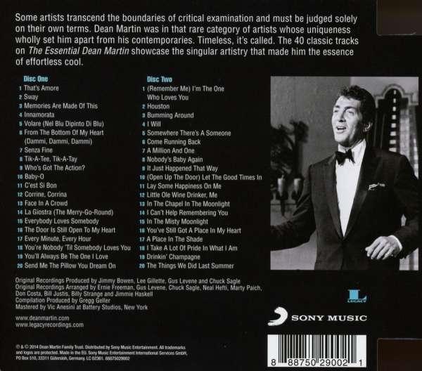 Dean Martin The Essential Dean Martin 2 Cds Jpc