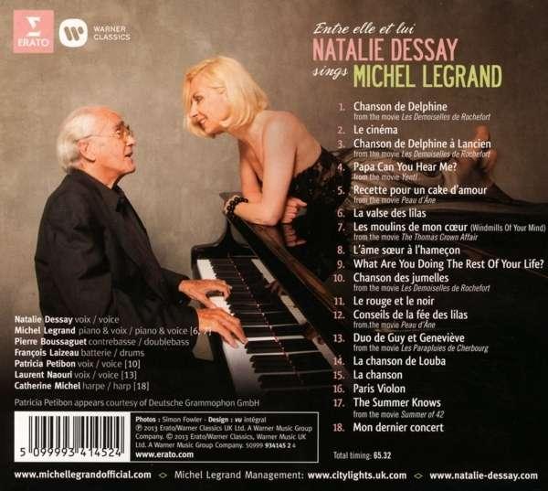 dernier cd de natalie dessay Le compositeur michel legrand et la soprano natalie dessay, déjà partenaires pour un disque et une tournée (elle et lui), se lancent dans une aventure inédite.